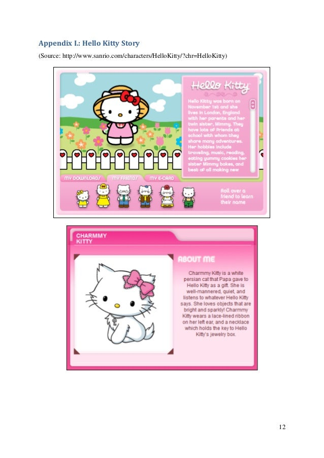 """hello kitty case study analysis Case studies blog open ben 0 avril lavigne """"hello kitty""""  """"hello kitty"""" concepts showed that this was a love letter and ode to japan understanding ."""