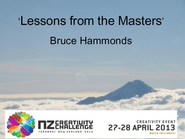 'Lessons from the Masters'Bruce Hammonds
