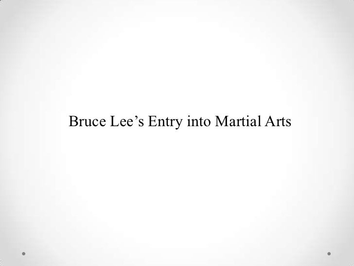 Bruce Lee's Entry into Martial Arts