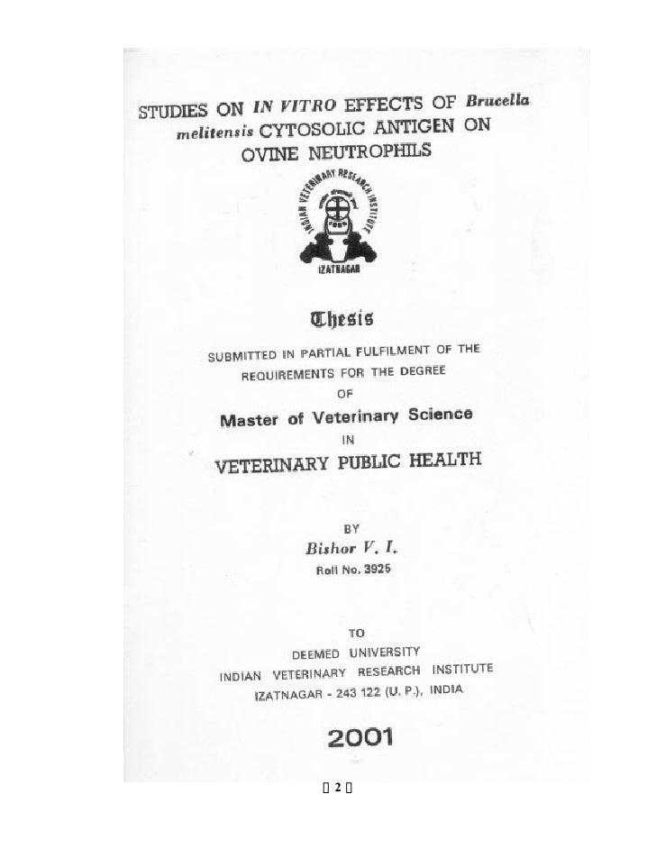 Animal Science & Veterinary Medicine