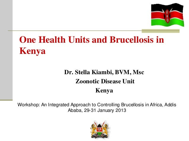 One Health Units and Brucellosis inKenyaDr. Stella Kiambi, BVM, MscZoonotic Disease UnitKenyaWorkshop: An Integrated Appro...