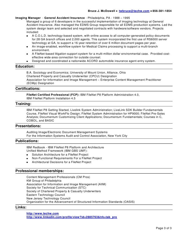 enterprise content management resume - Boat.jeremyeaton.co