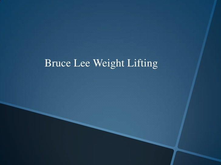 Bruce Lee Weight Lifting