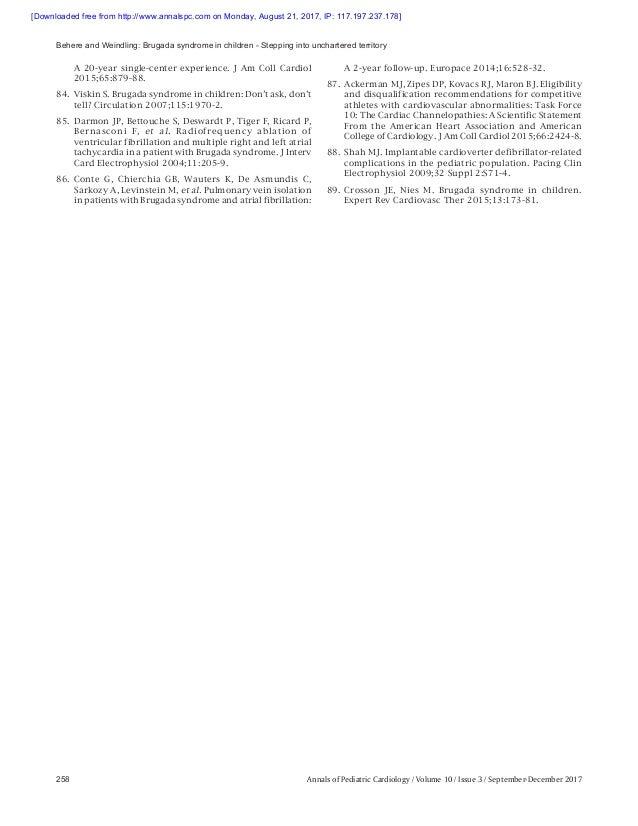 Brugada Syndrome Management | AER Journal