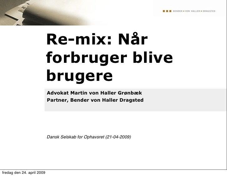 Re-mix: Når                             forbruger blive                             brugere                             Ad...
