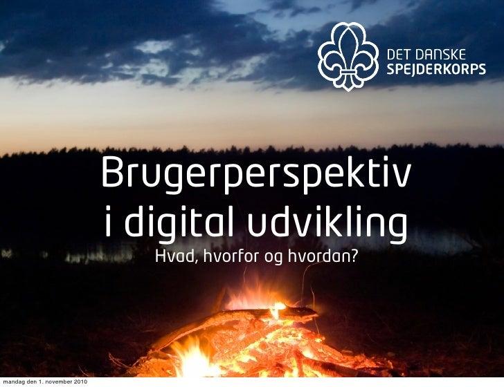 Brugerperspektiv                              i digital udvikling                                 Hvad, hvorfor og hvordan...