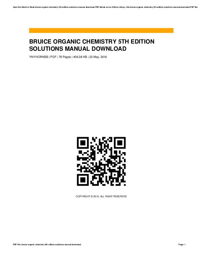Organic chemistry 5th edition bruice solutions manual array bruice organic chemistry 5th edition solutions manual download 1 638 jpg cb u003d1514433954 rh fandeluxe Choice Image