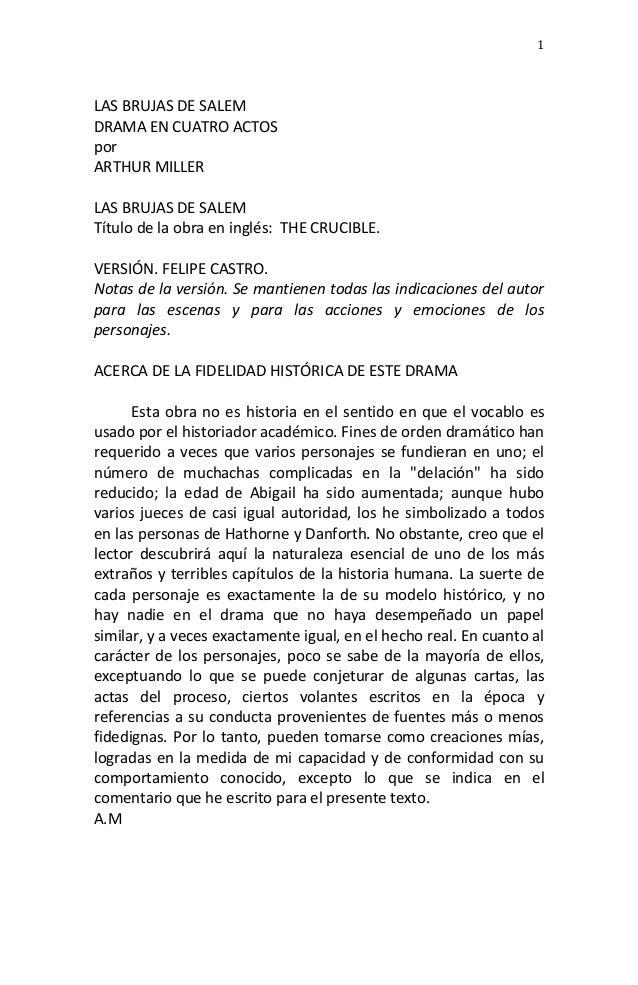 1      LAS  BRUJAS  DE  SALEM     DRAMA  EN  CUATRO  ACTOS     por     ARTHUR  MILLER  ...