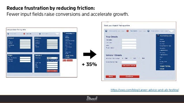 Reduce frustration by reducing friction: Fewer input fields raise conversions and accelerate growth. https://vwo.com/blog/...
