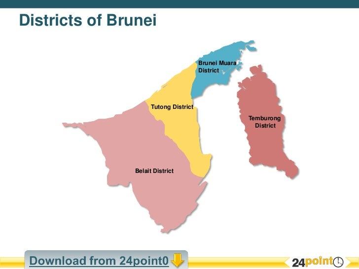 Editable PPT Map of Brunei