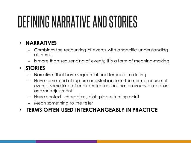 Definition of narrative essay
