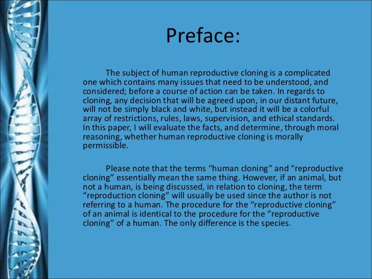 essays against cloning humans