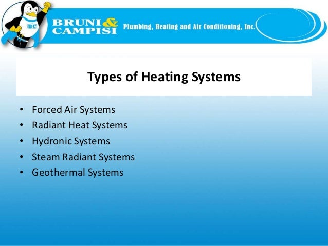 Slide types of heating systems for Type of heating systems