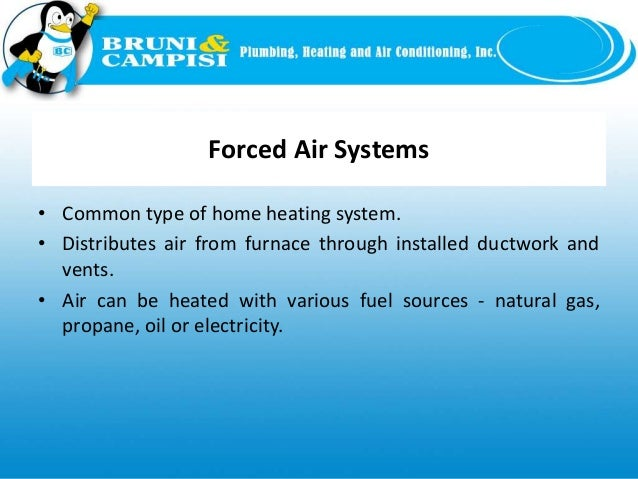 Slide types of heating systems for Types of forced air heating systems