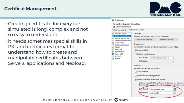 CertificatManagement • Creating certificate for every car simulated is long, complex and not so easy to understand • it ne...