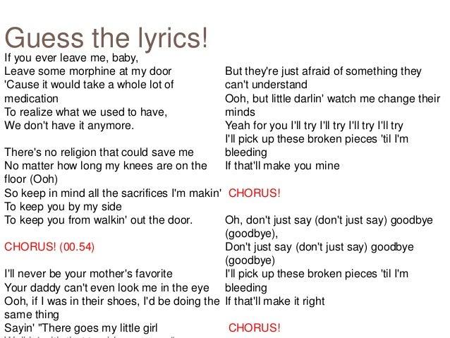 it will rain lyrics able