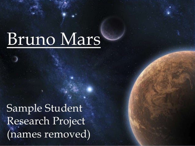Bruno MarsSample StudentResearch Project(names removed)