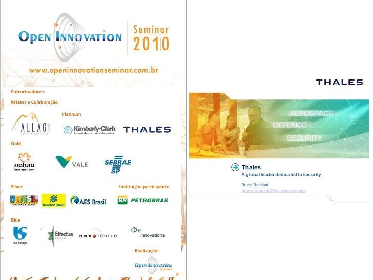 Case Thales | OIS2010 | Financiamento para inovação: novos modelos