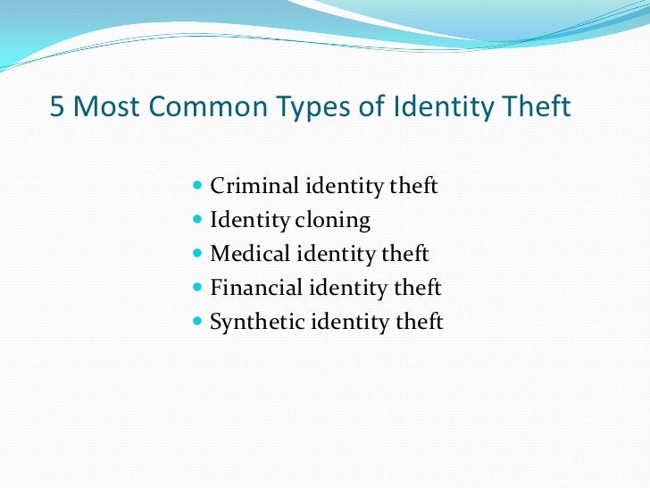 medical identity theft essay Your takeaway: medical identity theft is a little-known type of identity theft that can have particularly devastating consequences in a case like the sachs fiasco, where the victim has a serious medical condition, the effect could be deadly.