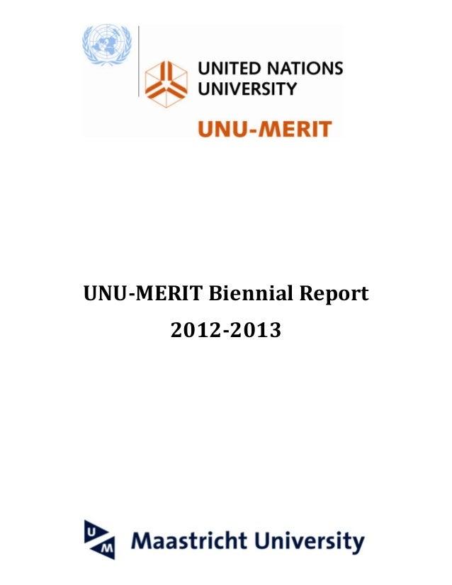 UNU-MERIT Biennial Report 2012-2013