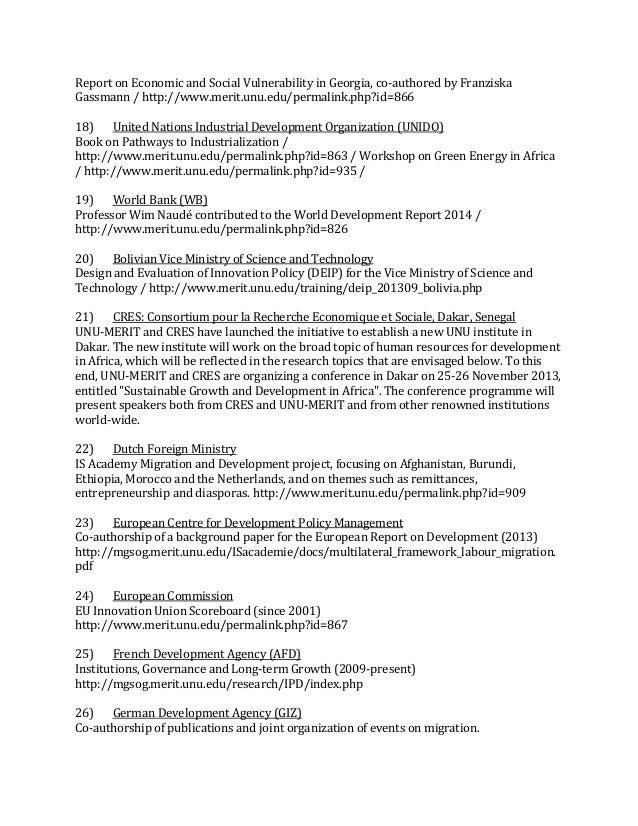 UNU-MERIT Biennial Report 2012-13