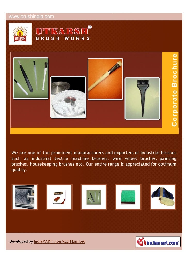 We are one of the prominent manufacturers and exporters of industrial brushessuch as industrial textile machine brushes, w...