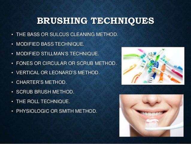 Brushing techniques Slide 3