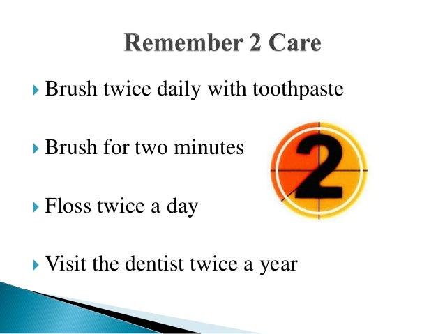 Brushing teeth Slide 2