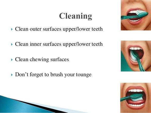 Brushing teeth Slide 3