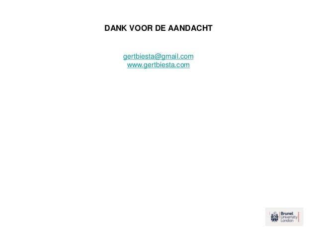 DANK VOOR DE AANDACHT gertbiesta@gmail.com www.gertbiesta.com