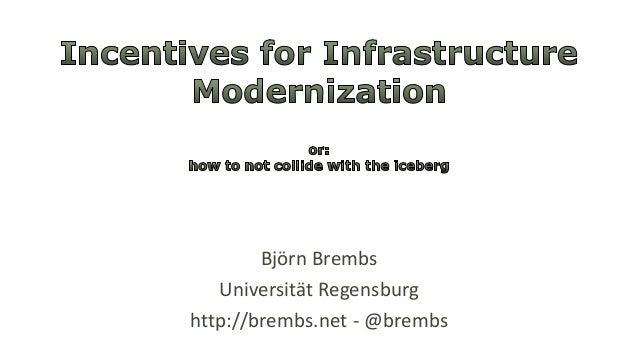 Björn Brembs Universität Regensburg http://brembs.net - @brembs
