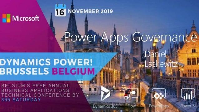 1 Daniel Laskewitz Power Apps Governance