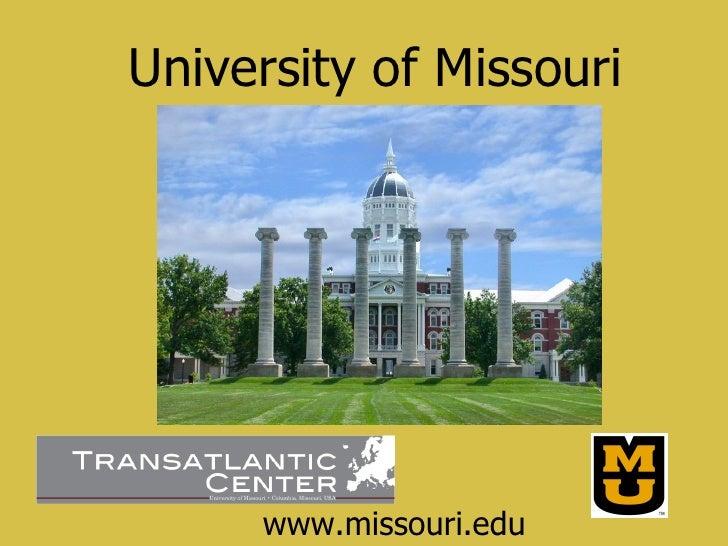 www.missouri.edu University of Missouri