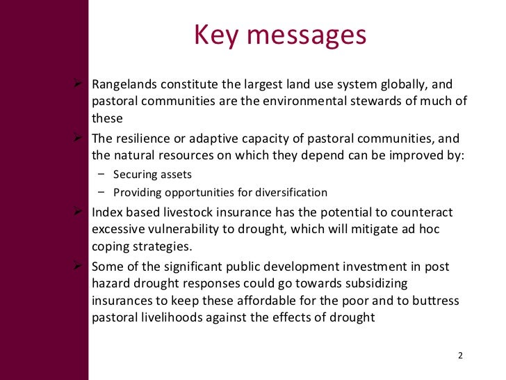 Options for enhancing resilience in pastoral systems Slide 2