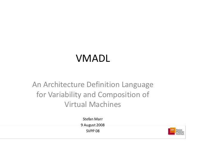 vmadl an architecture definition language for variability