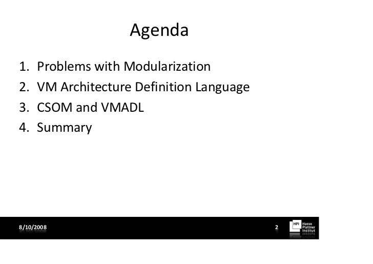 Vmadl an architecture definition language for variability for Architecture definition