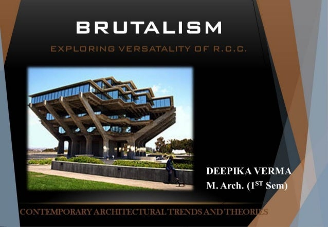 CONTEMPORARY ARCHITECTURAL TRENDS AND THEORIES