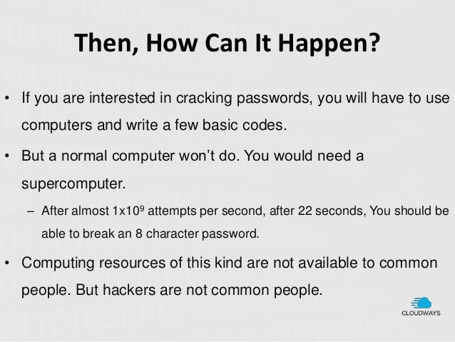 How to write a brute force password program