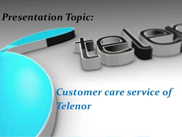 Customer care of telenor    Adi
