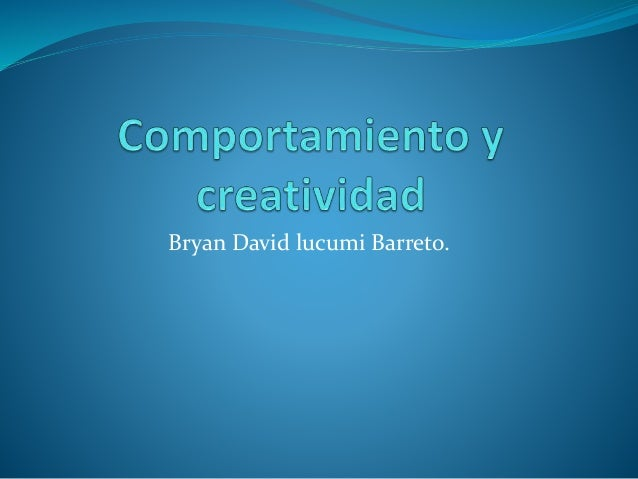 Bryan David lucumi Barreto.