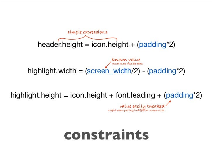 simple expressions          header.height = icon.height + (padding*2)                                          known value...
