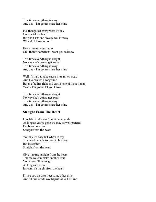 BRAYAN ADAMS SONG LYRICS