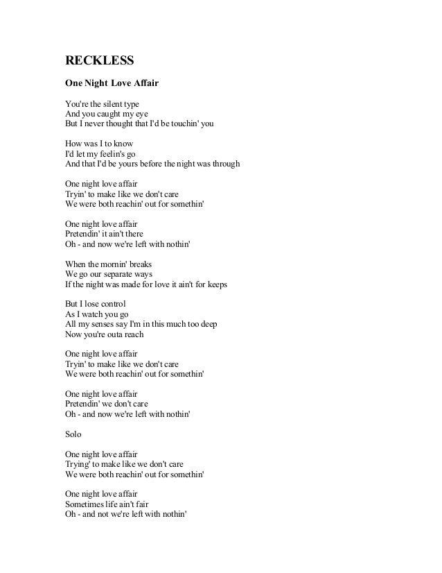 Lyric song lyrics to say i love you : BRAYAN ADAMS SONG LYRICS