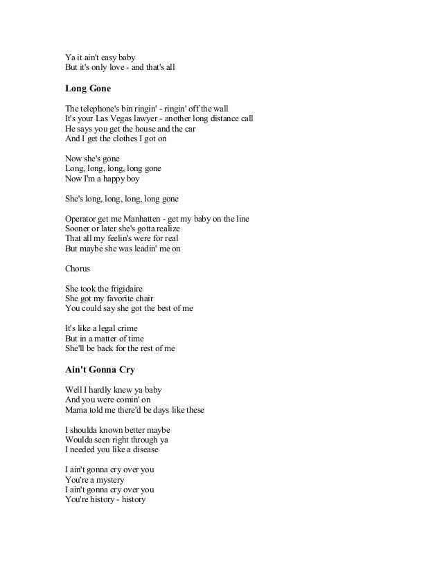 Lyric shes got you lyrics : BRAYAN ADAMS SONG LYRICS