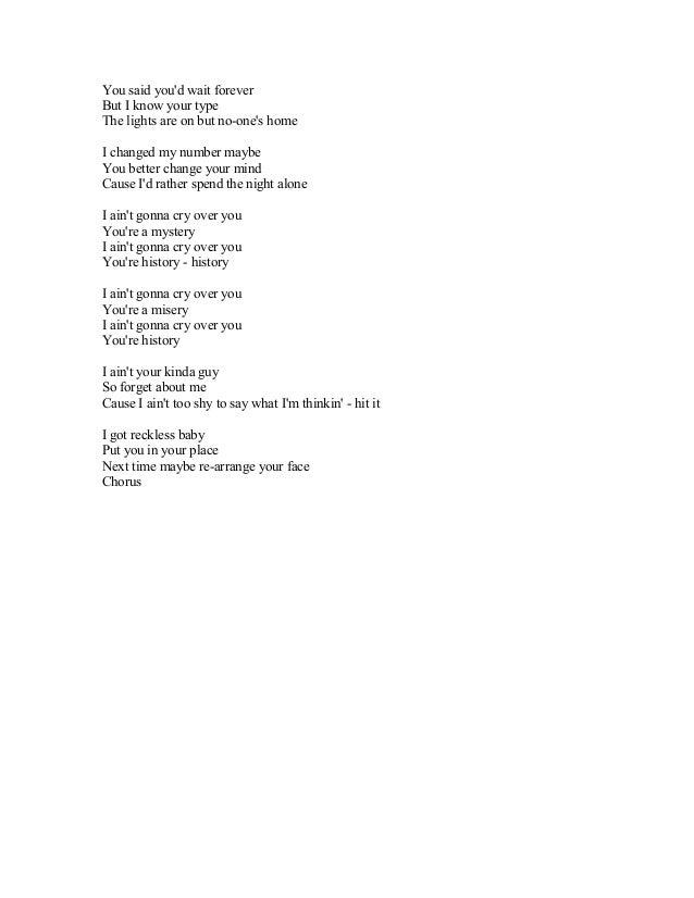 Waiting for you tonight lyrics