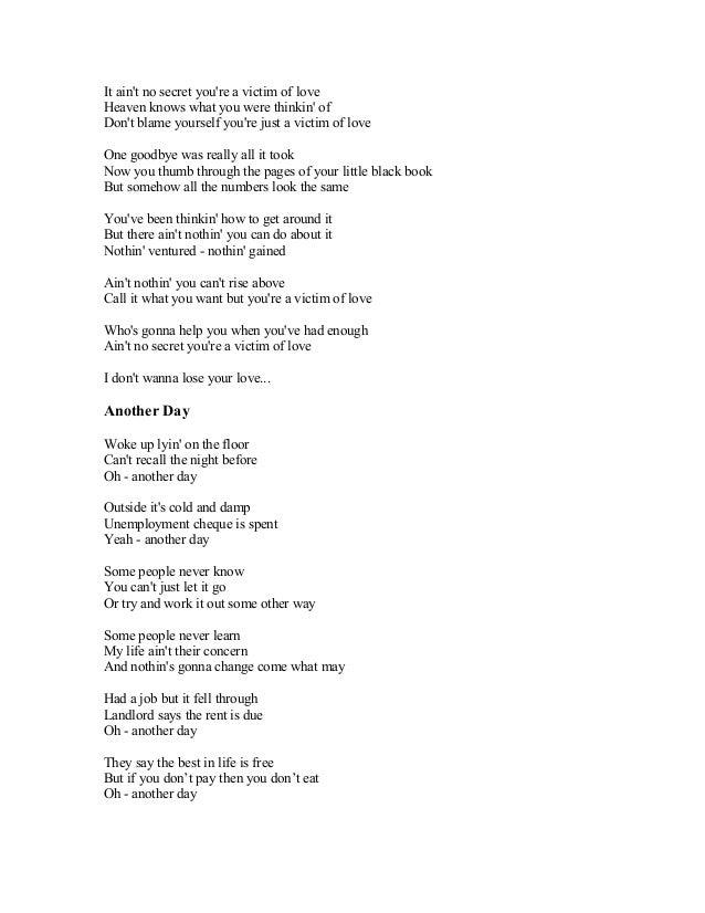 Lyric songs with numbers in lyrics : BRAYAN ADAMS SONG LYRICS