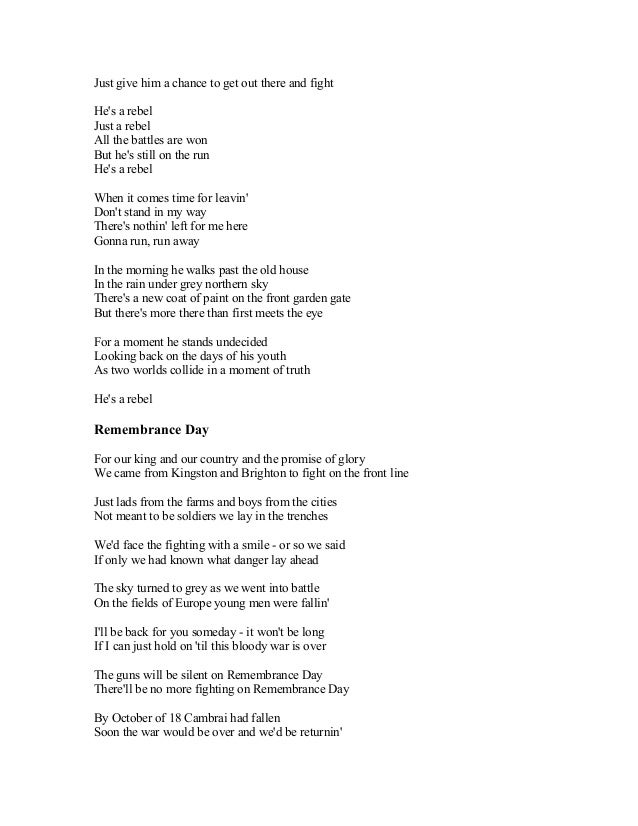 Lyric high school fight song lyrics : BRAYAN ADAMS SONG LYRICS