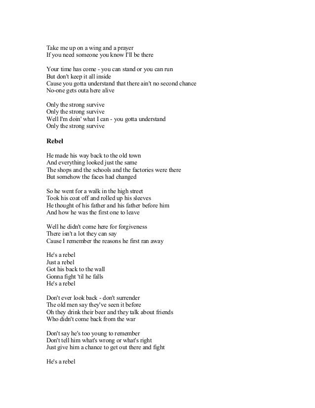 Lyric pick up the pieces lyrics : BRAYAN ADAMS SONG LYRICS