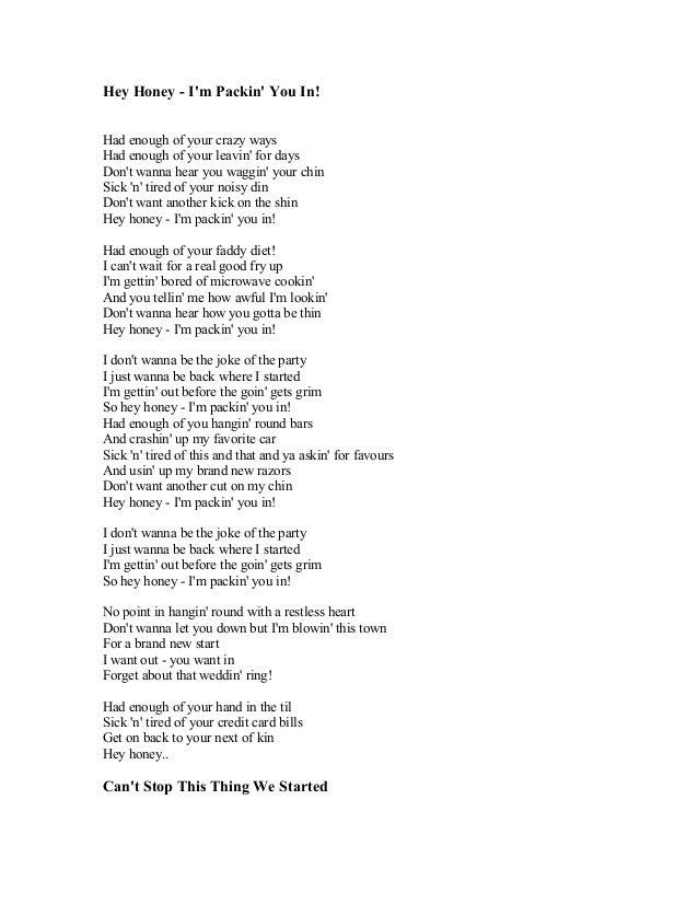 Lyric brand new you won t know lyrics : BRAYAN ADAMS SONG LYRICS