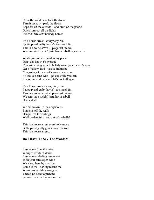 Say you don t want it lyrics